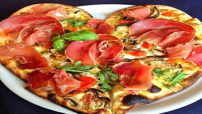 menu economico pizza san valentin